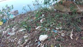 绿色附注污染水 库存图片