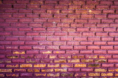 紫色难看的东西砖墙背景 免版税库存图片