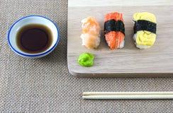 黑色集合射击寿司 免版税库存图片