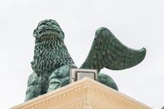 绿色雕象 库存图片