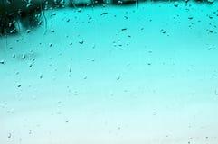 水色雨珠背景 库存照片