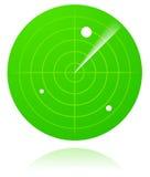 绿色雷达 库存图片
