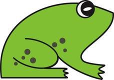 黑色青蛙例证向量白色 免版税图库摄影