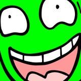 绿色面孔 免版税库存照片