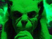 绿色面貌古怪的人 库存图片