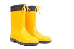 黄色鞋子 免版税图库摄影