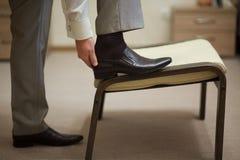 黑色鞋子 库存照片