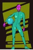 紫色顶头外籍人 免版税图库摄影