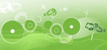 绿色风景背景 免版税库存照片