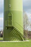 windturbine基地与台阶和进口的。 免版税库存图片