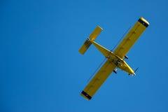 黄色飞机 库存图片