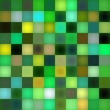 绿色马赛克模式 免版税库存照片