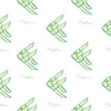 绿色鲤鱼织法 免版税库存照片