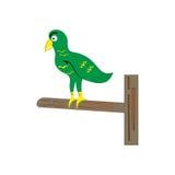 绿色鸟动画片 免版税库存照片