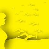 黄色鸟 图库摄影
