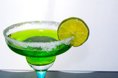 绿色鸡尾酒 免版税库存图片