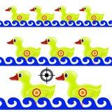 黄色鸭子目标 库存图片
