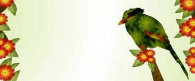 绿色鹊横幅 库存照片