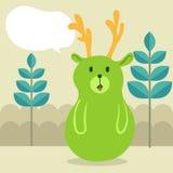 绿色鹿谈话 免版税库存照片