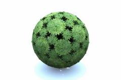 绿色齿轮地球  免版税库存图片