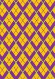 紫色龙鳞长菱形的几何无缝的传染媒介样式 库存照片