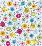 紫色,桃红色,蓝色,绿色和黄色花和叶子 库存照片