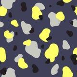 黄色,灰色和交通事故多发地段的无缝的样式 免版税库存图片