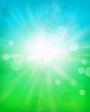 绿色,蓝色bokeh摘要背景艺术 免版税库存照片