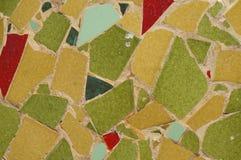 黄色,绿色和红色铺磁砖马赛克 图库摄影