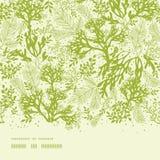 绿色水下的海草水平无缝 免版税图库摄影