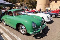 绿色1958年保时捷356 库存照片