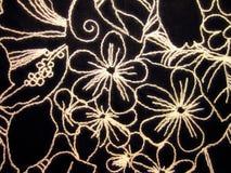 黑色织品纹理 免版税库存照片