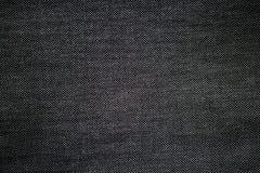 黑色织品纹理 免版税库存图片