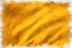 黄色织品,水彩 免版税库存照片