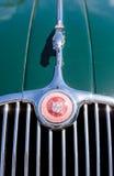绿色1958年捷豹汽车XK 150 库存照片