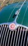 绿色1958年捷豹汽车XK 150 库存图片