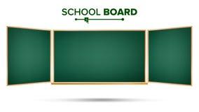 绿色黑板传染媒介 经典倒空研究黑板空白 按钮查出的现有量例证推进s启动妇女 库存图片