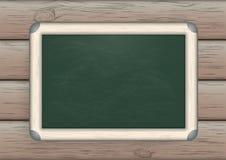绿色黑板木头 免版税库存图片