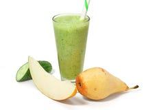 绿色水果和蔬菜圆滑的人 免版税图库摄影