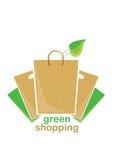 绿色购物 库存照片