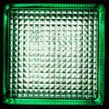绿色玻璃块关闭 免版税图库摄影