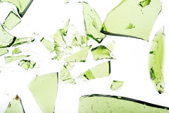 绿色玻璃 免版税库存照片