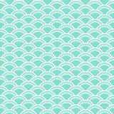 水色&白色鱼称样式,无缝的纹理背景 库存照片