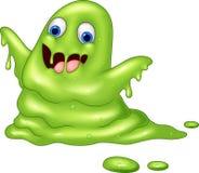 绿色黏的妖怪动画片 免版税库存图片