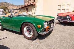 绿色1972胜利TR6 免版税图库摄影