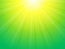 绿色黄色光芒背景 皇族释放例证