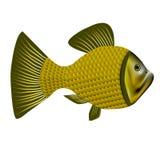 绿色黄色淡水鱼 免版税库存照片
