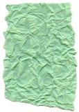 水色绿色纤维纸-弄皱与被撕毁的边缘 免版税库存图片