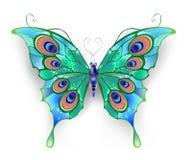 绿色蝴蝶 向量例证