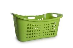 绿色洗衣篮 免版税库存图片